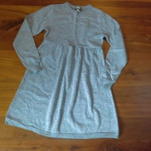 Sparkly silver sweater dress